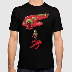 BobAkira (red) Mens Fitted Tee Black LARGE
