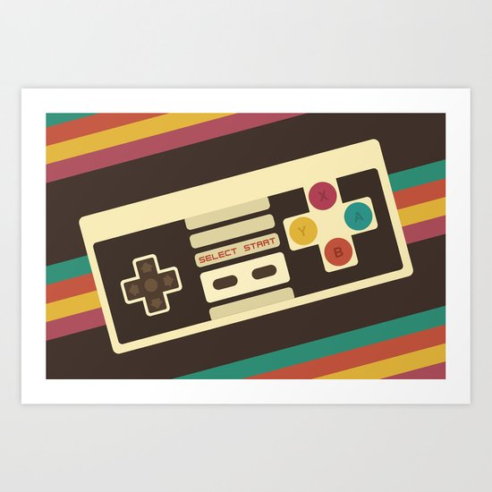 Retro Video Game 2 Art Print