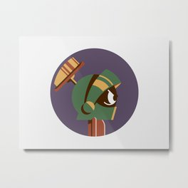 Headgear - Marvin the Martian Metal Print