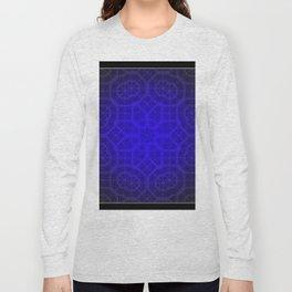 Blue Octogon Star Long Sleeve T-shirt