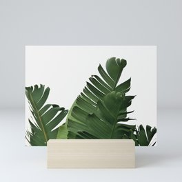 Minimal Banana Leaves Mini Art Print