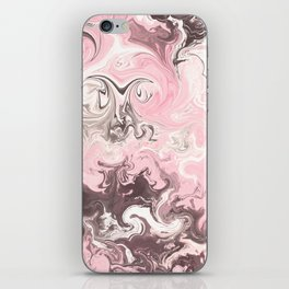 Modern pastel colors abstract watercolor marble iPhone Skin