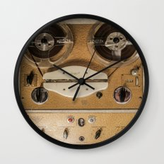 Vintage tape sound recorder reel to reel Wall Clock
