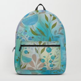 Blue Berries and Blooms Backpack