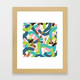 So handsy Framed Art Print