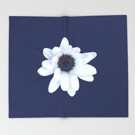 Sleepy African Daisy Flower Throw Blanket