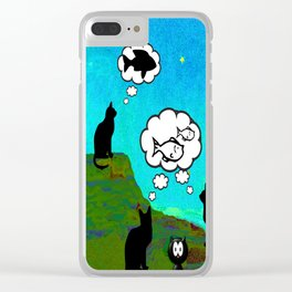 Cats Dreaming inTwilight Clear iPhone Case