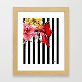 FLORA BOTANICA | stripes Framed Art Print