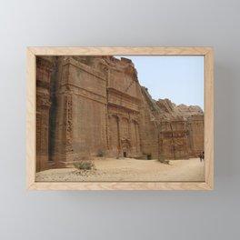 Rock Temples of Petra, facades, Jordan Framed Mini Art Print