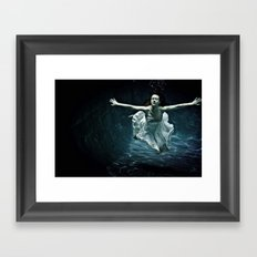 abyss of the disheartened : girl I Framed Art Print