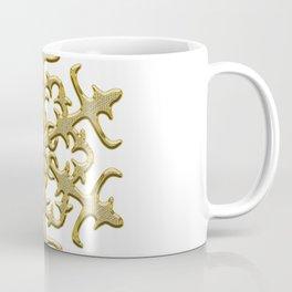 ornament, pattern, decor, gold decor, floral pattern, winter pattern, coldly, jewelry, frosty patter Coffee Mug