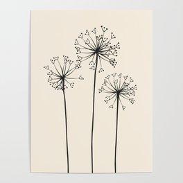 Dandelions Poster