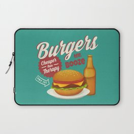 Burgers and Booze Laptop Sleeve