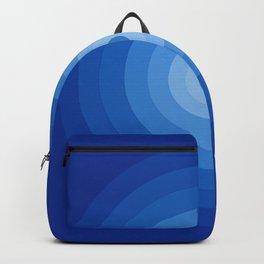 Blue Retro Bullseye Backpack