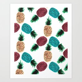 Weird Pineapples Art Print