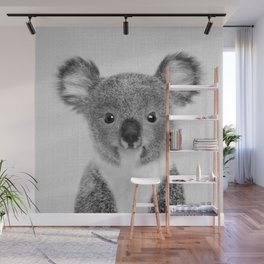 Baby Koala - Black & White Wall Mural