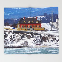 Le Chateau and the Sea Throw Blanket