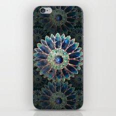 Mosaic flower, blue turquoise iPhone Skin