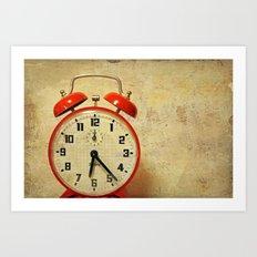 Que horas são ? Art Print