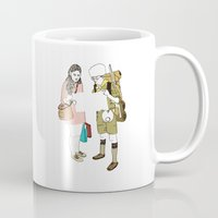 moonrise kingdom Mugs featuring moonrise kingdom by joshuahillustration