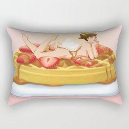 Waffle Girl Rectangular Pillow