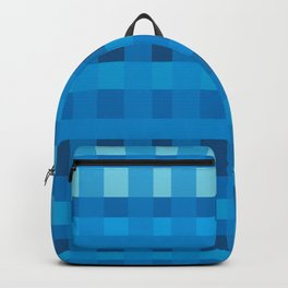 Blue  Plaid Pattern Backpack
