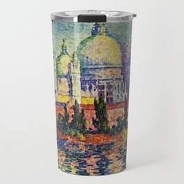 View of Santa Maria della Salute, Venice Landscape by Paul Signac Travel Mug