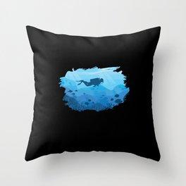 Scuba Diving I Scuba Diver Throw Pillow