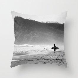 Noir Surf Throw Pillow