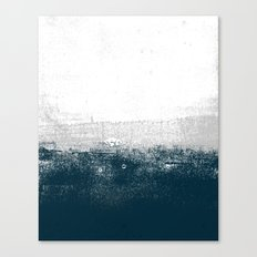 Ocean No. 1 - Minimal ocean sea ombre design  Canvas Print