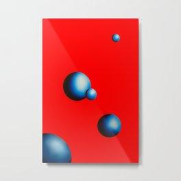 Melt in Red Metal Print