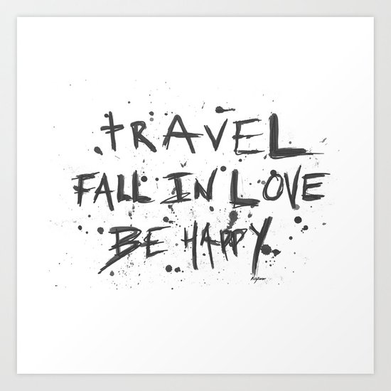 travel love happy Art Print