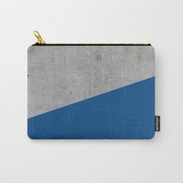 Concrete and lapis blue color Carry-All Pouch