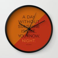 A Day Without Sunshine. Wall Clock