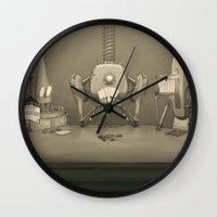 poker Wall Clocks featuring Bot Poker by Samize