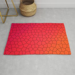 Red Gradient Stained Glass Rug