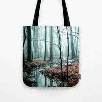 winter Tote Bags featuring Gather up Your Dreams by Olivia Joy StClaire