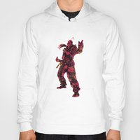 street fighter Hoodies featuring Street Fighter Dan by vanityfacade