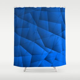 Bright contrasting sea fragments of crystals on triangles of irregular shape. Shower Curtain