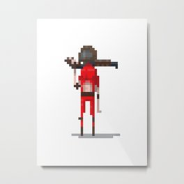 21yrs later, red doom guy with a shotgun Metal Print