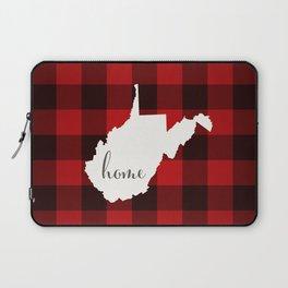 West Virginia is Home - Buffalo Check Plaid Laptop Sleeve