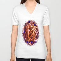 the wire V-neck T-shirts featuring Wire Ball by Brian Raggatt