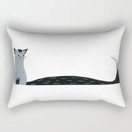 Long Tail Cat Rectangular Pillow
