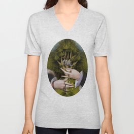 """The hands of Bosch and the Spring"" Unisex V-Neck"