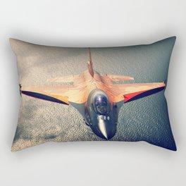 Orange Lion Rectangular Pillow