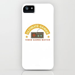Video Games Matter Vintage Video Game Gamer Quote E-Sport iPhone Case