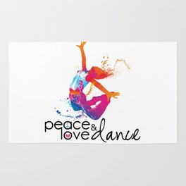 Peace & love Dance Rug