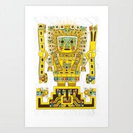 Viracocha Color Art Print