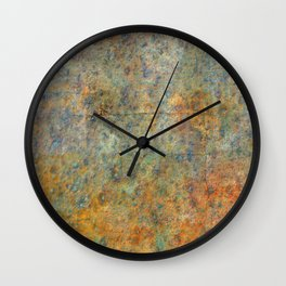 Blue and Copper Abstract Wall Clock