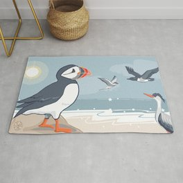 Coastal Birds By The Sea Rug